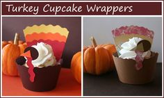 These are to buy, but the top parts would be easy from paint chips!  Bottom is just a cupcake wrap