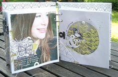 Mag, ou la magie des détails… – L'Encre & l'Image – Le Blog Mini Album Scrap, Mini Albums Scrapbook, Scrapbook Layouts, Tutorial Scrapbook, Kirigami, Book Journal, Bookbinding, Mini Books, Altered Art