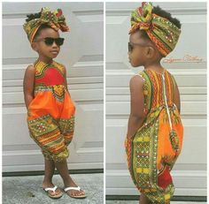 Gorgeous African Jumpsuit Toddler Outfit