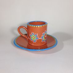 Best Coffee Cup, Ceramic Coffee Cups, Hand Painted Ceramics, Dishes, Mugs, Tableware, Products, Hand Painted Pottery, Dinnerware