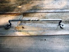 Forged Towel Bar Rustic Iron Towel Holder by Roundhouseblacksmith $30 each