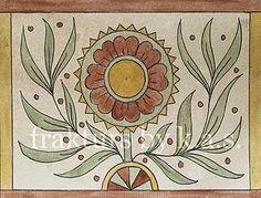 frakturs by k.a.s. Blank fraktur notecards with envelopes for sale by Kelsey A. Smith. #folkart #fraktur #flowers
