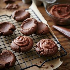 Nutty Chocolate Thumbprints - Fall Cookie and Bar Recipes - Southern Living
