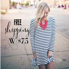 free shipping with a $75 order!
