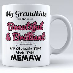 Personalized My Grandkids Are Beautiful & Brilliant Ceramic Mug
