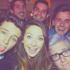 Joey Graceffa, Korey Kuhl, Connor Franta, Troye Sivan, Zoe Sugg & Tyler Oakley at Playlist 2014!