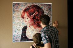 """Custom 36""""x36"""" Mosaic poster made from your Instagram feed.. $49.95, via Etsy."""