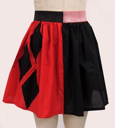 Love this skirt. I would wear this on a regular basis, I don't even need to be cosplaying Harley for this one.