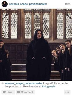 If Severus Snape Had Instagram