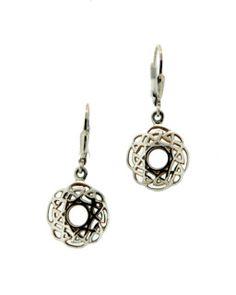 Celtic Window to the Soul Silver Earrings