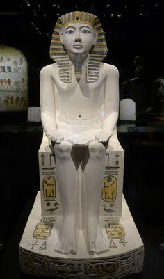 https://flic.kr/p/cgEcvh | Historisches Museum der Pfalz Speyer | Leihgabe aus dem Museum Turin Pharao Amenhotep I., 18. Dyn. Kalkstein, bemalt  Pharao Amenhotep I., 18. Dyn. painted limestone