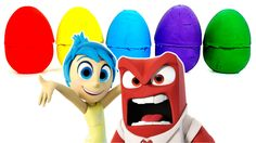Learn Colors Inside Out Play Doh Surprise Eggs ( Anger Sadness Fear Disgust Joy )