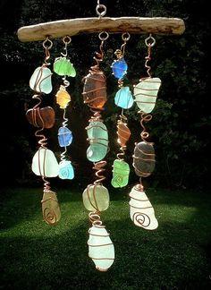 Móvil con vidrios marinos :)