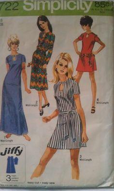 Vintage 1970s SImplicity Womans Dress Size 16. $10.00, via Etsy.