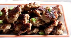 Frikadeller aren't your typical spherical meatball but a squished pork meatball like patty panfried and full of onion, garlic, and rosemary flavors. A Danish favorite! Pork Meatballs, How To Dry Rosemary, Minced Onion, Gluten Free Oats, Recipe Notes, Grubs, Edible Art, New Recipes, Danish