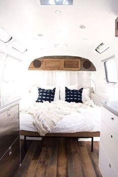 Tiny Camper Interior Ideas – Camping is the most fun thing for anyone. And what is your plan for your summer vacation in Are you also planning to camp outside the house? You can use tents for camping, but for those of you who. Airstream Remodel, Airstream Renovation, Airstream Interior, Airstream Rv, Campervan Interior, Bus Remodel, Airstream Living, Diy Camper, Camper Life