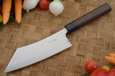 Hayabusa Chef's Knife - Hakata Santoku - 6-3/4 in. (170 mm) Handmade Chef Knife, Japanese Kitchen Knives, Fruit And Vegetable Carving, Sharpening Stone, Professional Chef, Knife Art, Knives And Swords, Custom Knives, Chef Knives