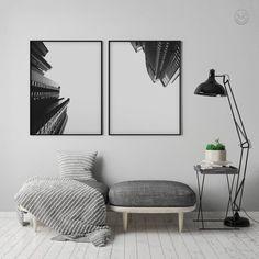 Architecture Poster Set Black and White Abstract Print Deco Design, Art Design, Interior Design, Monochrome Interior, Nordic Interior, Graphic Design, Office Wall Art, Office Walls, Modern Tropical