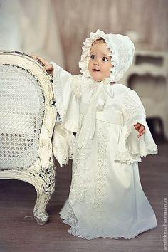 Крестильные принадлежности ручной работы. Ярмарка Мастеров - ручная работа. Купить крестильное платье. Handmade. Белый, однотонный, крестильное платье