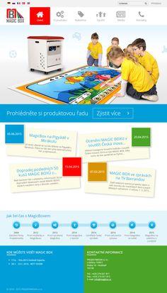 Pro společnost Projektmedia jsme modernizovali webové stránky interaktivní výuky pro děti pomocí Magboxu. Více najdete na: www.magbox.cz