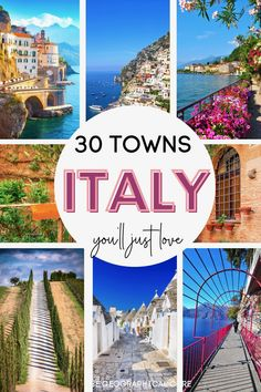 Dreaming of a vacation in Italy? This Italy travel guide and itinerary takes you on a tour of 30 of Italy's most beautiful towns and villages. These pretty Italian towns boast Roman ruins, UNESCO sites, Renaissance masterpieces, and cute cobbled streets. If you're looking for the best things to do and see in Italy, put these towns on your Italy bucket list. In these towns, you'll find some of Italy's most amazing must see sites and historic landmarks. Italy Itineraries | Italy Destinations