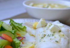 Cod with Butter Egg Sauce
