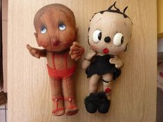 VINTAGE CLOTH BETTY BOOP DOLL & FRIEND 1930's | Collectors Weekly