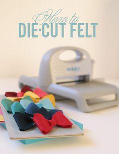 Benzie: A fanfare of felt.: Can I use a die cutting tool to cut felt?