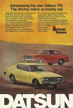 Datsun 710 Automobile Original 1974 Vintage by VintageAdOrama, $9.99
