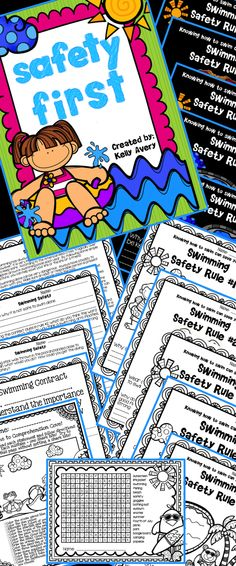 """End of the Year Activities:  The swimming safety packet is a perfect end of the year activity to teach students the importance of staying safe around swimming pools!  Click here to see what other teachers have to say about this """"life saving"""" set of end of the year printables as your students get ready for their summer break!"""