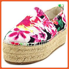 c55c341212f63 Betsey Johnson Flouncee Women US 5.5 Multi Color Espadrille - Sandals for  women ( Amazon
