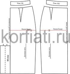 Выкройка юбки карандаш – детали пояса