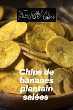 Découvrez notre recette de chips de bananes plantain salées ! Banane Plantain, Sweet Potato, Potatoes, Vegetables, Food, Chips Recipe, Healthy Recipes, Potato, Essen