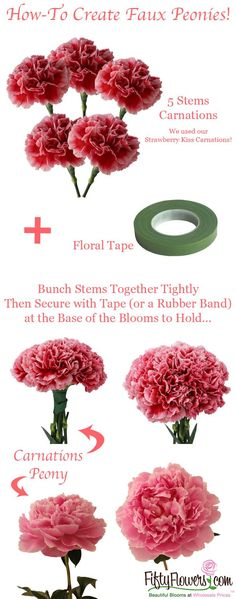 How-To Create Faux Peonies by FiftyFlowers.com