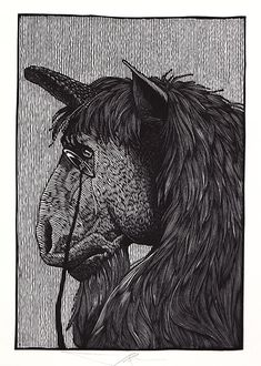 Unicorn by Barry Moser - Alice in Wonderland & Through the Looking Glass | R. Michelson Galleries