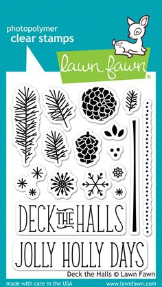 deck the halls clear stamps | Lawn Fawn