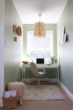 Scandi Boho Home Office Nook