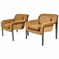 Pair of Bill Stephens Lounge Chairs by Knoll | 1stdibs.com