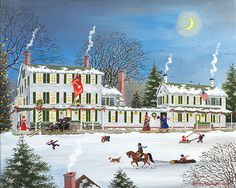 Winter - Griswold Inn-White Mountain Puzzles