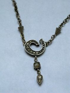 MF30120, Patricia Locke Beautiful Antique Brass Necklace w/ Pearls n Crystals