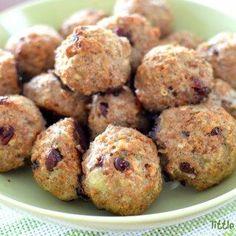 Turkey, Cranberry and Bulgur Wheat Bites