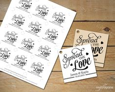 Personalized wedding favor tags, canning tags, set of 20, Jam Packed ...