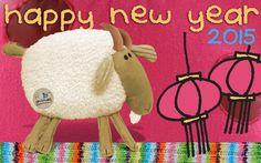 Happy Chinese New Year 2015 Fabric Animals, Happy Chinese New Year, Recycled Fabric, Recycling, Crochet Hats, Animals, Knitting Hats, Upcycle