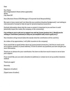free donation request letters asking for donations made easy! corporate donation letter template