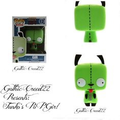 "Invader Zim Pop! Television GIR 4"" Funko #12 Vinyl Figure Hot Topic Exclusive!"