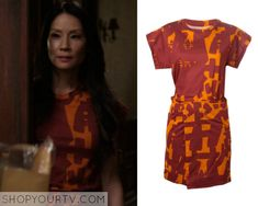 Joan Watson (Lucy Liu) wears this orange and red printed dress in this week's episode of Elementary. It is the Isabel Marant [...]