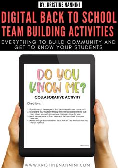 Virtual Team Building Middle School Icebreakers, High School Activities, Classroom Team Building Activities, Teacher Team Building, School Games, Back To School Newsletter, 8th Grade Ela, Third Grade, Get To Know You Activities