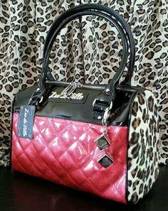 LUX DE VILLE MINI ATOMIC Handbag Purse Pinup Rockabilly Mods Retro PINK Leopard #LuxDeVille #Handbag 40% OFF SALE! FREE US SHIPPING! Hundreds of fun, unique & beautiful items on sale in our ebay store: www.TerminusCity.com