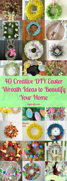 40 Creative DIY Easter Wreath Ideas to Beautify Your Home – DIY & Crafts