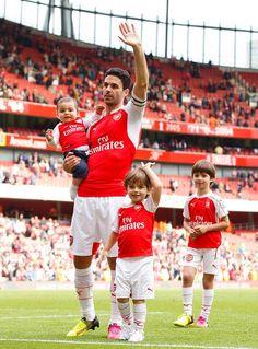 Mikel Arteta & his boys Gabriel, Daniel & Oliver
